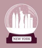 New York christmas glass ball Stock Photos