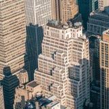 New York Ci ty Manhattan midtown aerial panorama view with skyscr Stock Photos