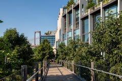 New York, cidade/EUA - 10 de julho de 2018: 1 ponte de Brooklyn do hotel em d imagem de stock royalty free