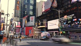 Timelapse View of Times Square in Midtown Manhattan stock video footage