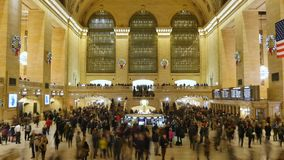 Timelapse view inside Grand Central Station stock footage