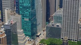 High Angle View of Typical Midtown Manhattan Street stock footage