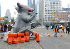 Inflatable Rat in New York royalty free stock photo
