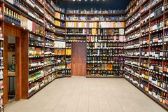 Wine store royalty free stock photo