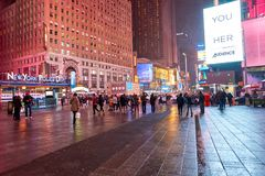 New York City at night. NEW YORK - CIRCA MARCH 2016: New York City at night. The City of New York, often called New York City or simply New York, is the most stock photography