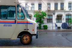 New York Città-ha unito il servizio postale degli stati immagini stock