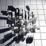 New York City (übertragen, Weiß, Maschendraht) Lizenzfreies Stockbild