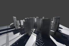 New York City (übertragen, Weiß, Maschendraht) Lizenzfreie Stockbilder