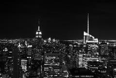 New York City на ноче Стоковые Изображения