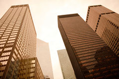 New York City. Low angle view of skyscrapers in Manhattan, New York City, NY, USA Royalty Free Stock Images