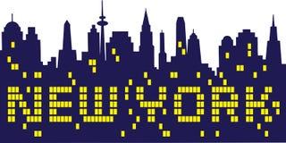 New York City. A night skyline of New York city shining Stock Photos