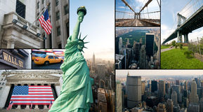 New York City. A collage of new york city Royalty Free Stock Photos
