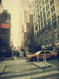 New York city. Street. Old style image Stock Image