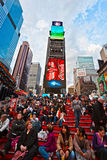 NEW YORK CITY - 25. MÄRZ: Times Square, gekennzeichnet mit Broadway-Th stockfotos