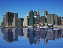 New York City. Under a beautiful blue sky Stock Photography
