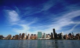 New York City. Under a dramatic sky Royalty Free Stock Images