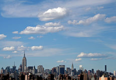 New York City. Skyline on clear day stock images