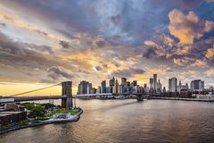 New York City. With dramatic cloud cover Royalty Free Stock Photography