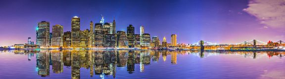 New York City. Financial District skyline across the East River Royalty Free Stock Images