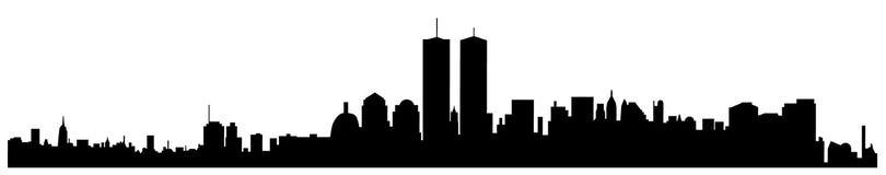 New York City vector silhouette Stock Photos