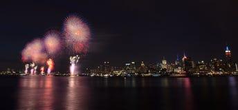New York City - 4ème des feux d'artifice de juillet Image libre de droits