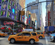 New york city 42 street. A shot of times square - 42 street Stock Photography