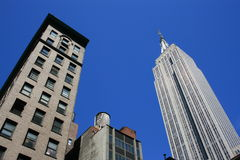 New York City. Building in midtown Manhattan (including the Empire State Building royalty free stock image