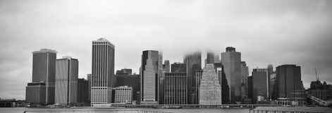 New York city. Panoramic view of New York city , B&W stock photo