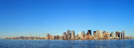 New York City. Panorama of Manhattan skyline stock photography