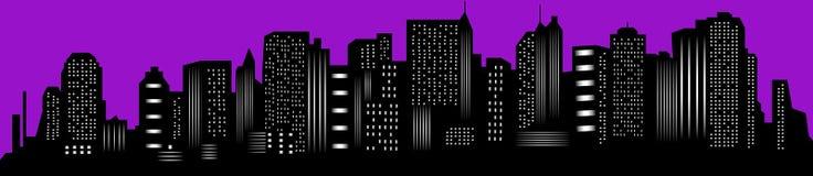 New York city. Panorama silhouette Royalty Free Stock Photo