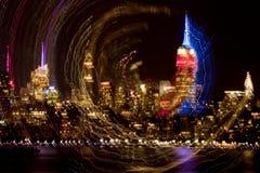 New York City abstrakt begrepp Arkivbild
