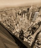 New York city aerial royalty free stock photography