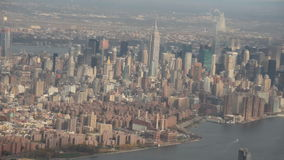 New York City aerial. New York City Manhattan seen in aerial footage stock video footage