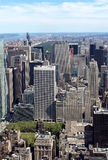 New York City Aerial panoramic view Stock Photos