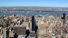 New York City Aerial panoramic view Royalty Free Stock Photos