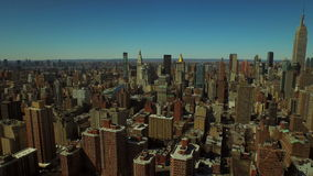 New York City Aerial. V58 Flying backwards over Kips Bay with Midtown Manhattan cityscape view stock video footage