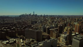 New York City Aerial. V56 Flying over Kips Bay panning left with view of Manhattan, New Jersey, and Brooklyn cityscapes stock video footage