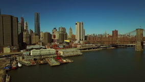 New York City Aerial stock video footage