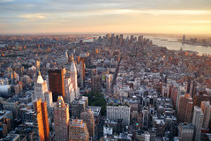 New York City aerial view Royalty Free Stock Photo