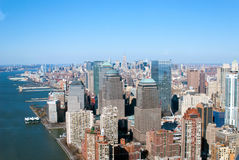 New York city. Aerial view of new york city stock images