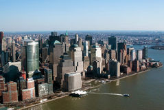 New York city. Aerial view of new york city stock photography