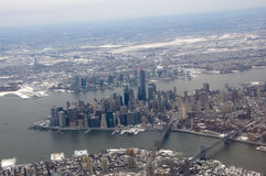 New York City - An aerial view Royalty Free Stock Image