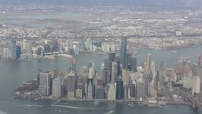 New York City aerial view stock video