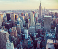 New York City aerial view Stock Photo