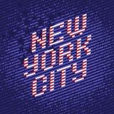 New York City affisch vektor illustrationer