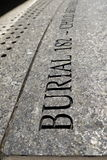 New York City: African Burial Ground inscription detail royalty free stock photography