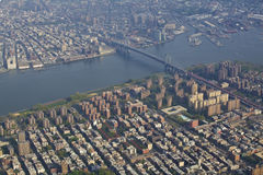 New York city from the air Royalty Free Stock Image