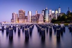 New York City all'alba Immagini Stock Libere da Diritti