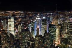 New York City alla notte Immagine Stock Libera da Diritti