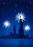 New York City alla notte Immagini Stock Libere da Diritti